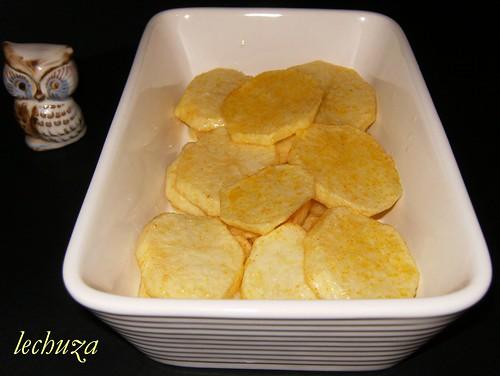 Gratinado de bacalao-base patatas