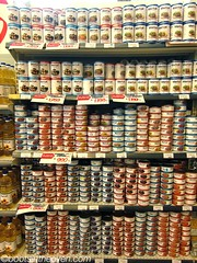 Shelves in a supermercado (Boots in the Oven) Tags: chile travel fish southamerica supermarket canned seafood rtw roundtheworld iquique supermercado regionii hipermart
