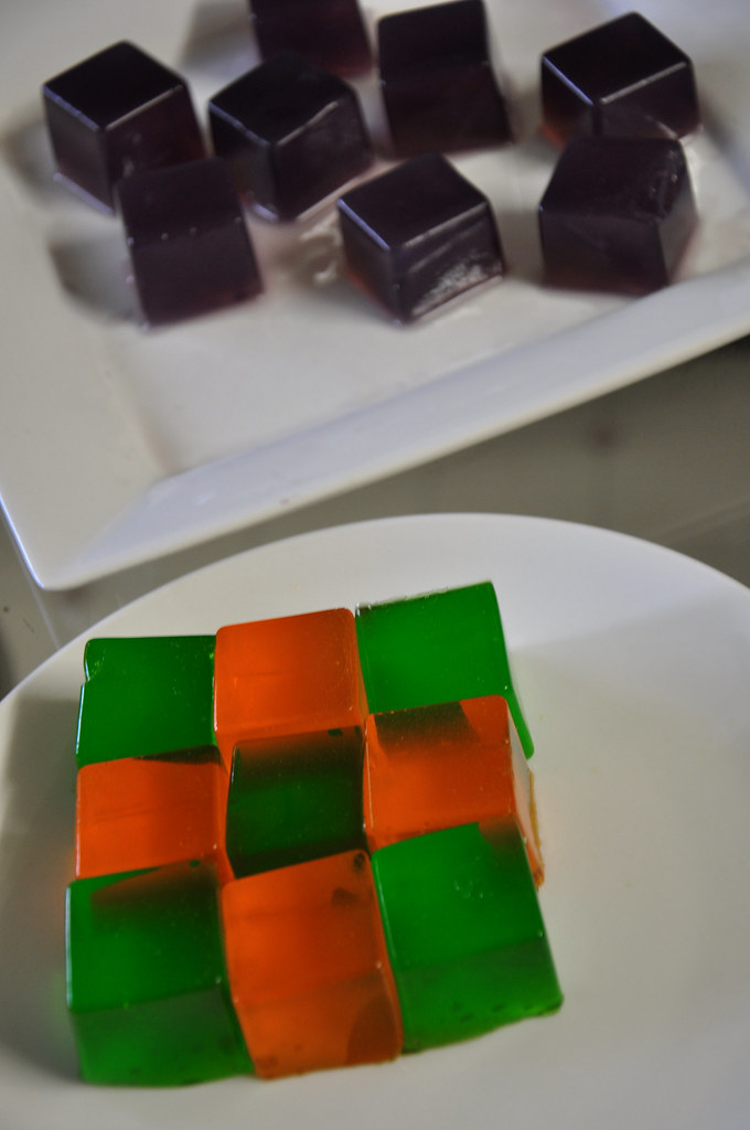 cubed jello shots