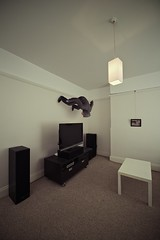 The Walls (jæms) Tags: house selfportrait man me composite climb stand livingroom walls remoteflash remoteshutter explored strobist profotod1