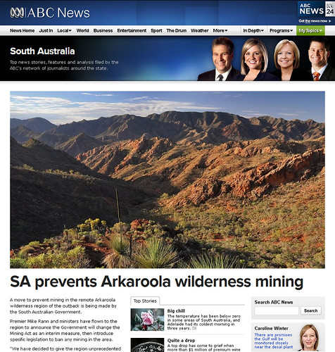 arkaroola campaign - we won!