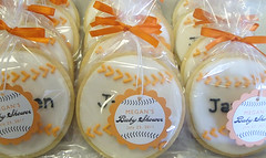 Baseball Baby Shower Favor Tags (Sugar Mama Cookies - SAN FRANCISCO BAY AREA) Tags: baby shower baseball themed