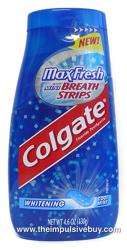 Colgate Max Fresh With Mini Breath Strips Toothpaste The