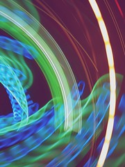 Blue Hearts (ColourPixie) Tags: hearts spin neonsign cameratoss nohands