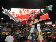 Voltron Statue at Comic-Con 2011