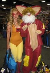 Cheetara and Snarf cosplay at Comic-Con 2011