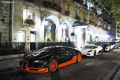 Bugatti Veyron Super Sport & Koenigsegg Agera R & Pagani Zonda Cinque Roadster & Maybach 57SC Xenatec - Paris (Ghislain Balemboy   Gyzmo 7) Tags: sport super r bugatti cinque zonda koenigsegg veyron roadster maybach pagani 57sc agera xenatec