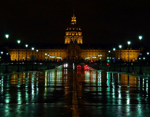 Landmarks at night of Paris by jackfre2