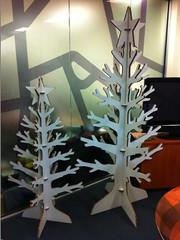 Office reception Xmas trees