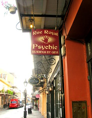 My Other Job (Kurlylox1) Tags: red signs sign hand employment neworleans gina lamppost frenchquarter psychic namesake palmreading rueroyal samename otherjob