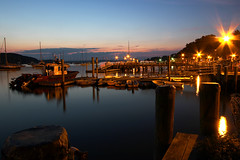 Northport Harbor Night (gimmeocean) Tags: longexposure boats harbor twilight longisland flares northport northportharbor
