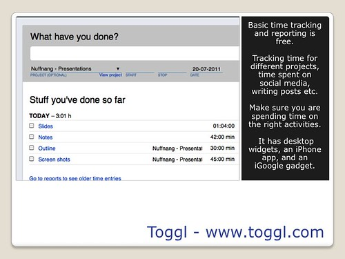 Blogging Tools - Toggl
