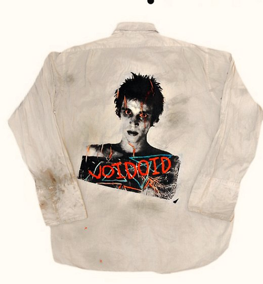Shirt with screen print hand-tinted by Richard Hell in 1977.
