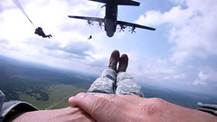 Through the Eyes of a Paratrooper: 173rd Jumps in Ukraine for Rapid Trident 2011 (U.S. Army Europe Images) Tags: uk england canada building america training germany army person us site teams jump europe exercise 1st widescreen cam military united serbia helmet perspective first poland kingdom center security ukraine latvia international together soldiers strong states peacekeeping belarus airborne rapid partner troops hercules preparation forces stronger paratroopers c130 parachute trident capacity multinational 2011 usareur interoperability usaeur gopro yavoriv