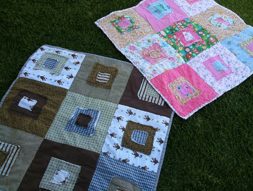 Baby quilts - raw edges