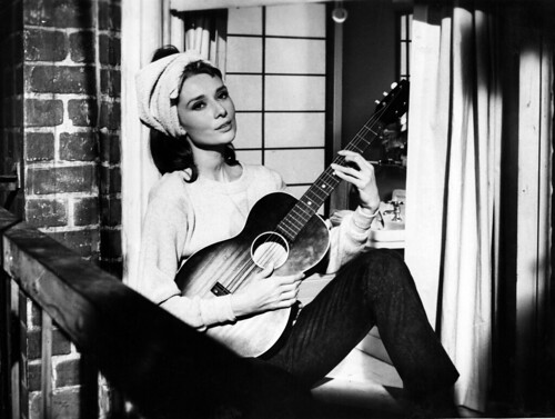 Audrey playing guitar