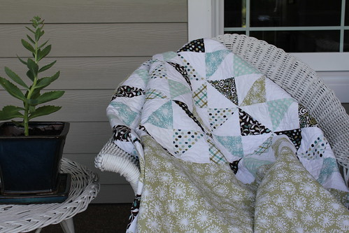 Wedding Quilt on Porch
