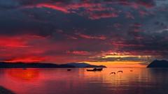 Long Day Fishing (edwademd) Tags: travel sunset seascape nature landscape washington sanjuanislands samishisland abigfave thesuperbmasterpiece