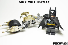 SDCC Batman (pecovam) Tags: dark san comic lego diego batman knight con 2011 batpod