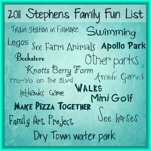 famiy fun list