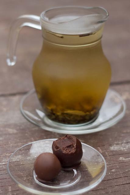 Chá Branco e Trufa de Menta