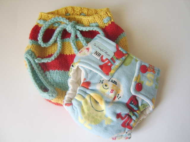 Gillyweeds and The Graceful Moose<br>Newborn soaker and diaper<br>4 day Auction!