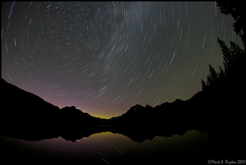 Star-Trails over Bowman Lake