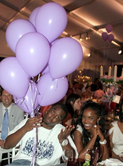 Sean 'P. Diddy' Comb and Kim Porter during Philanthropic Arts Foundation's Sixth Annual 'Art For Life' Benefit  East Hampton