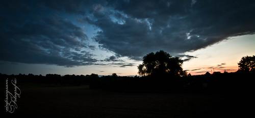 Fotografie: brennender Abendhimmel