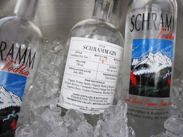Schramm gin and vodka selection