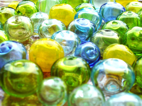 Lampwork, hollow glass beads