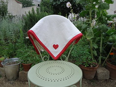 Baby flannel blankie (ZiKiarts) Tags: red usa baby paris france green basket quilt iran buttons sewing crafts polka fabric cotton blanket flannel blankie quilts dots patchwork binding 2012 joanns zardkuh bazoftforever bazoft couvrelit zikiarts