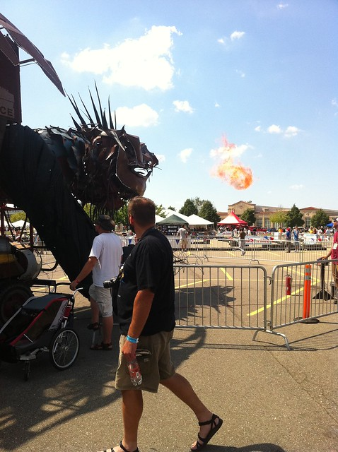fire breathing dragon, maker faire detroit
