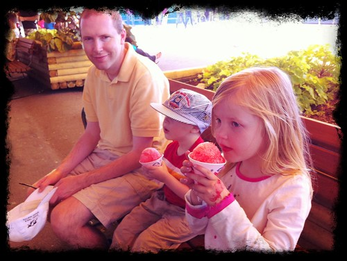Capping off the day with sno kones