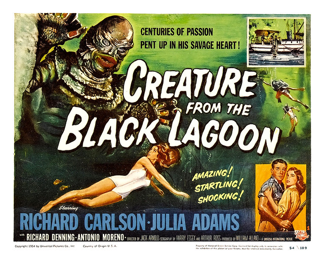 Reynold Brown - Creature From the Black Lagoon (Universal International, 1954) half sheet 2