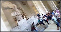 """""""Nike of Samonthrace"""" (Hetx) Tags: sculpture woman paris france art statue museum greek flying wings ancient louvre famous crowd goddess tourists victory nike staircase classical marble armless destroyed wingedvictory ruined drapery hellenistic samonthrace nikeofsamonthrace"""