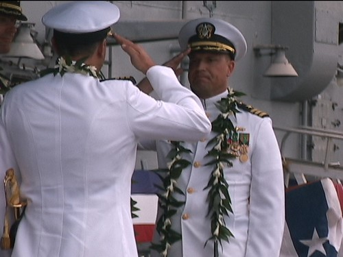 USS Reuben James (FFG 57) Change Of Command