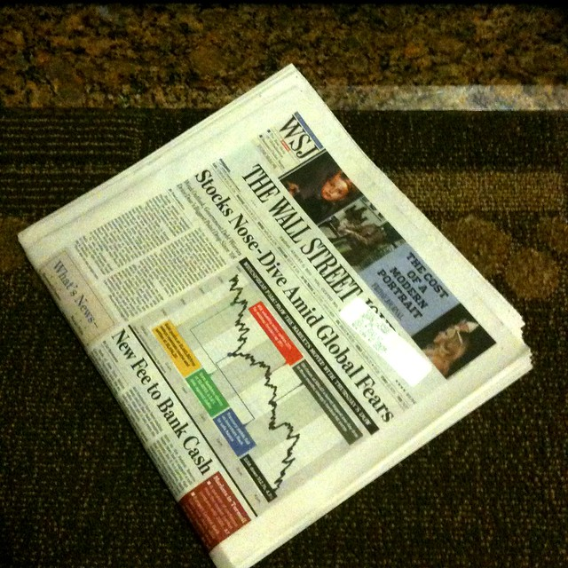 Newspaper from across the apartment hallway #walkingtoworktoday