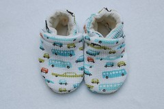 *0-6 Months*  Retro Cars OBV Lined Booties