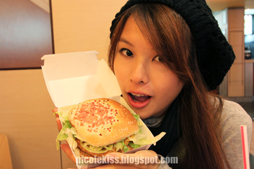 me and mcd burger in spain