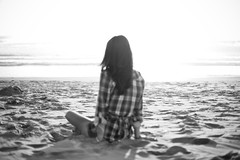 Black And White Photography Beach Sunset bw Woman White Black Beach