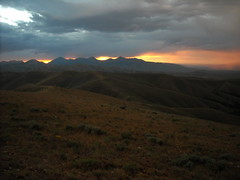 Sunset on the Divide