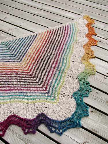 Andrea's shawl - finished!