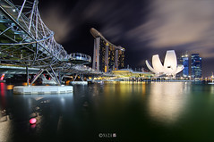 The Night That The Lights Never Went Out | Part 13 | Singapore (naza.carraro) Tags: show park city travel bridge blue light party vacation holiday color tourism water festival museum architecture youth marina river geotagged bay hall sand nikon singapore asia day quay parade tokina national hour esplanade blended ndp cbd helix temasek singapura mbs raffles sungai ntuc kallang maybank d90 naza artscience naza1715 nazarudin