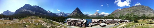 Panoramic Photo of Many Glacier Hotel
