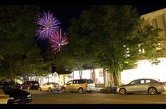 Saugatuck - Michigan - Butler and Hoffmann St (BK_Photos & Digital Art) Tags: longexposure night canon michigan firework storefront stores saugatuck benkennedy 60d