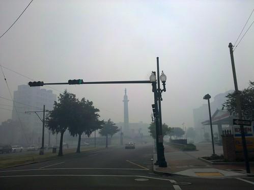 Lee Circle smoke