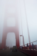 A walk in the clouds [Explored] (Edwin_Abedi) Tags: sanfrancisco california bridge girls fog clouds bay walk goldengate