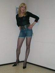Shorts and black pantyhose. (sabine57) Tags: drag tv cd crossdressing tgirl transgender tranny transvestite crossdresser crossdress transvestism