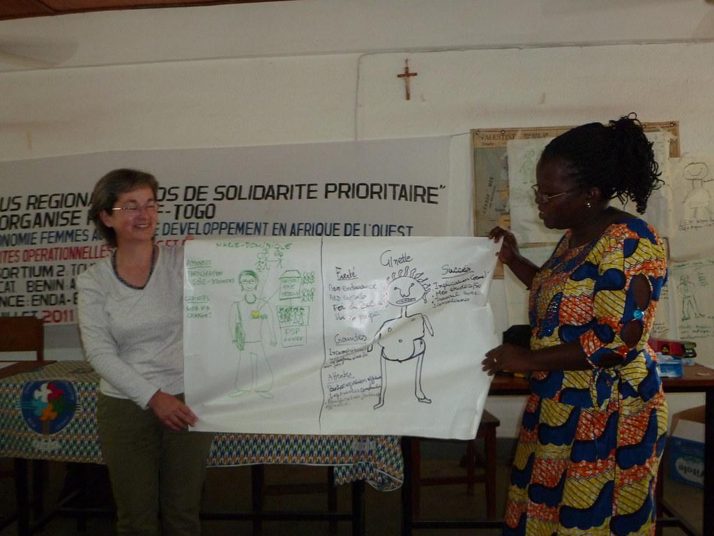 Marie-Dominique et Ginette, animatrices Ateleir GENRE Kara Togo